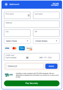 UserWay - Subscription Form