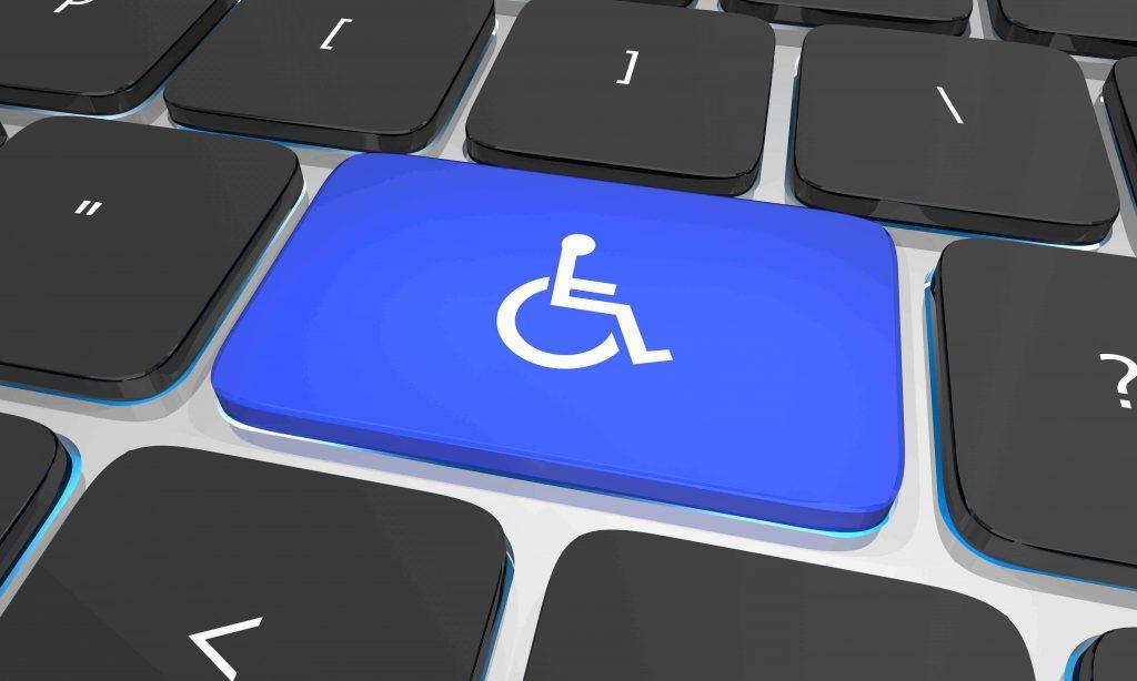 Tastatur-Computer-Behinderungstaste - Americans Disabilities Act