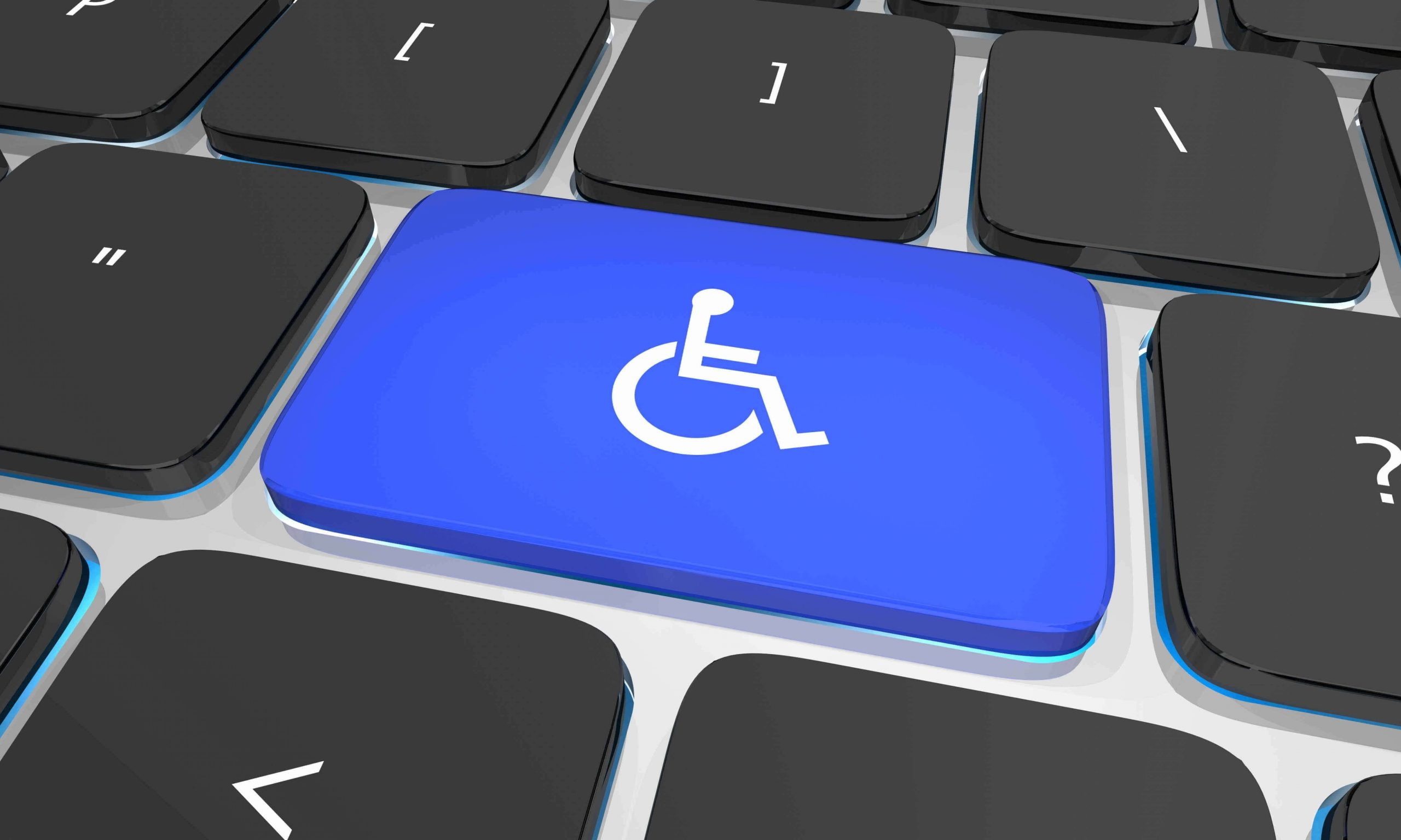 Keyboard computer disability button - Americans Disabilities Act