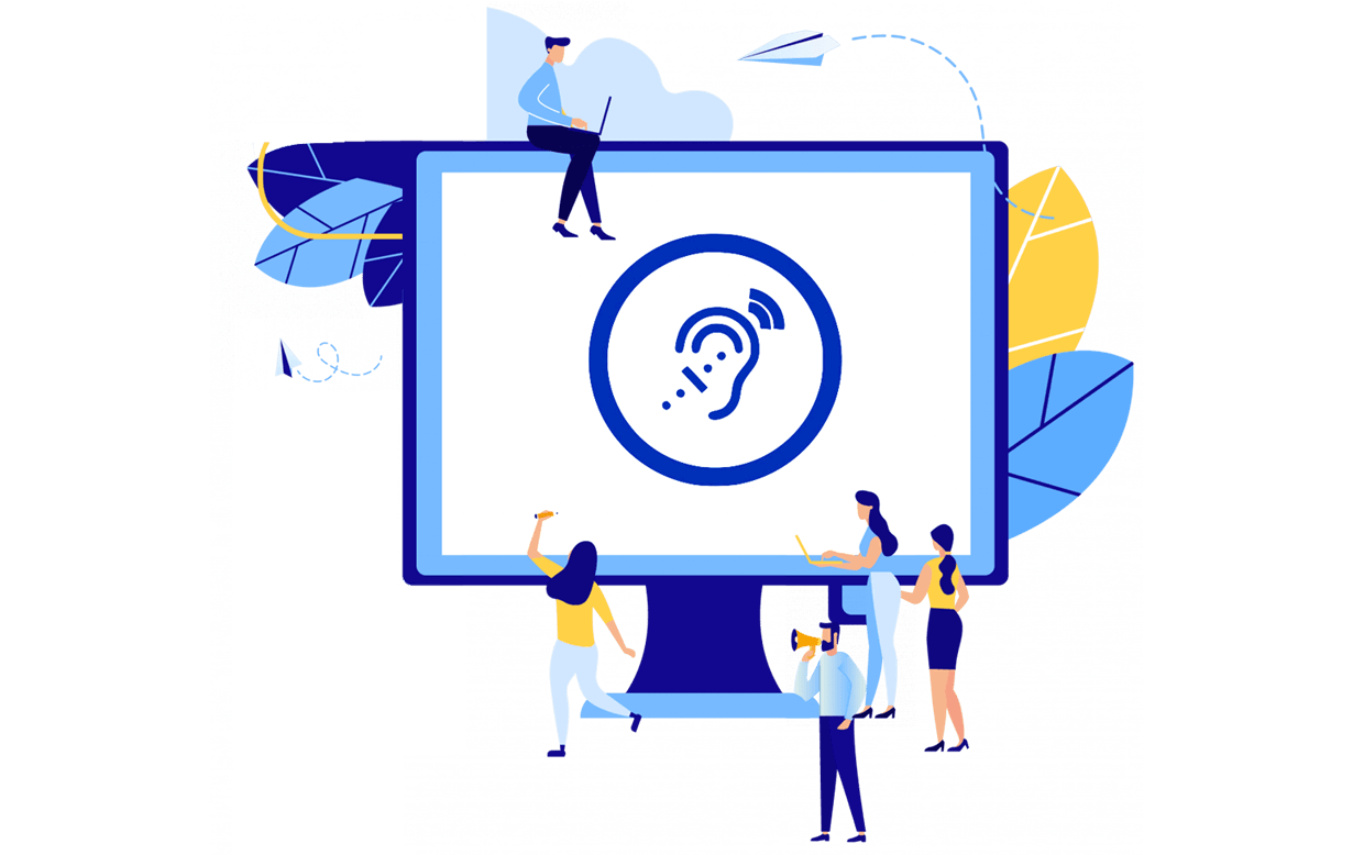 Accessibilità del sito web per persone con disabilità uditiva