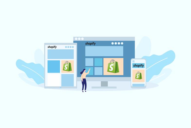 Plattformen Shopify-Website zugänglich