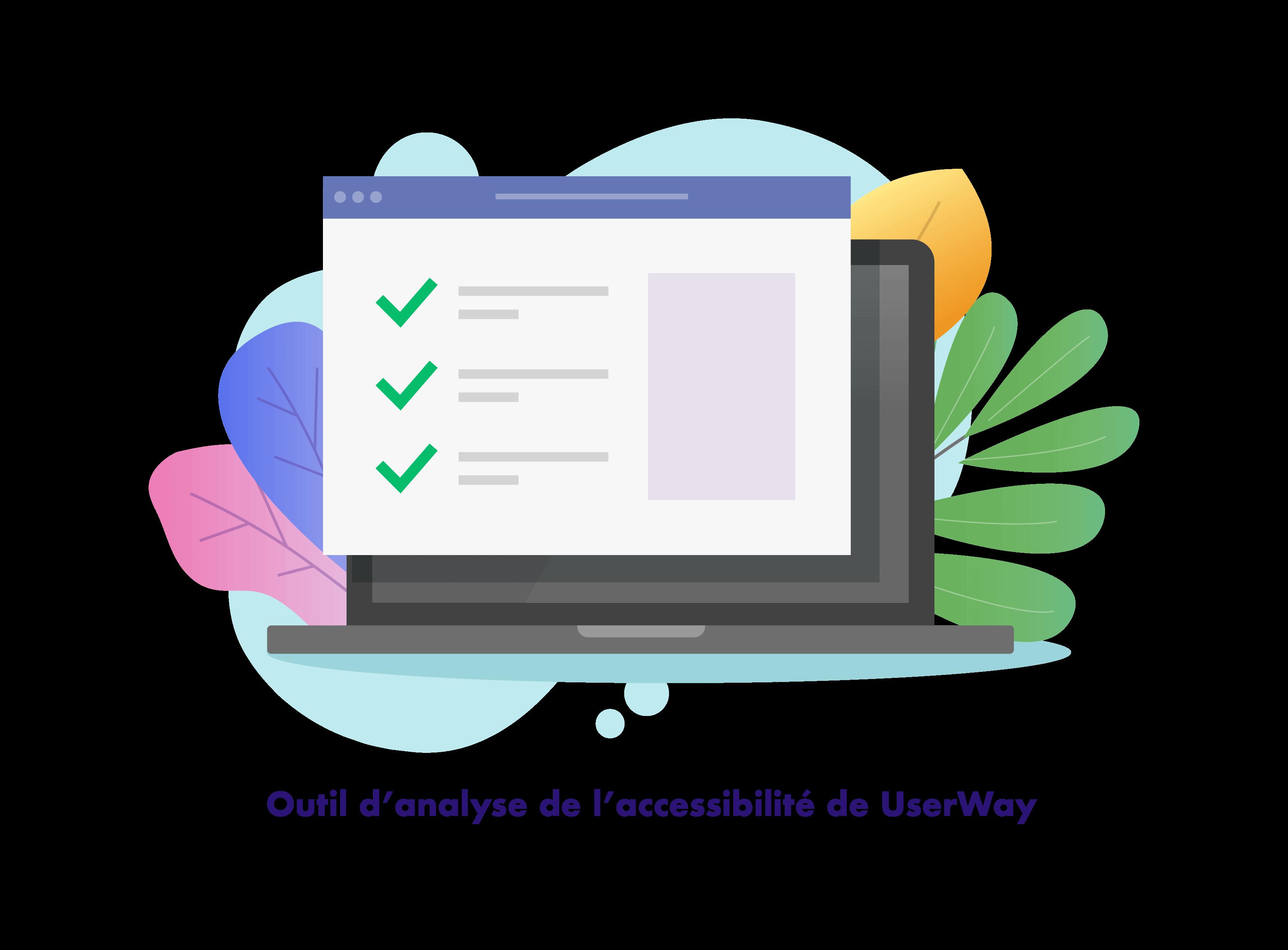 Userway Outil d'analyse de l'accessibilité de UserWay